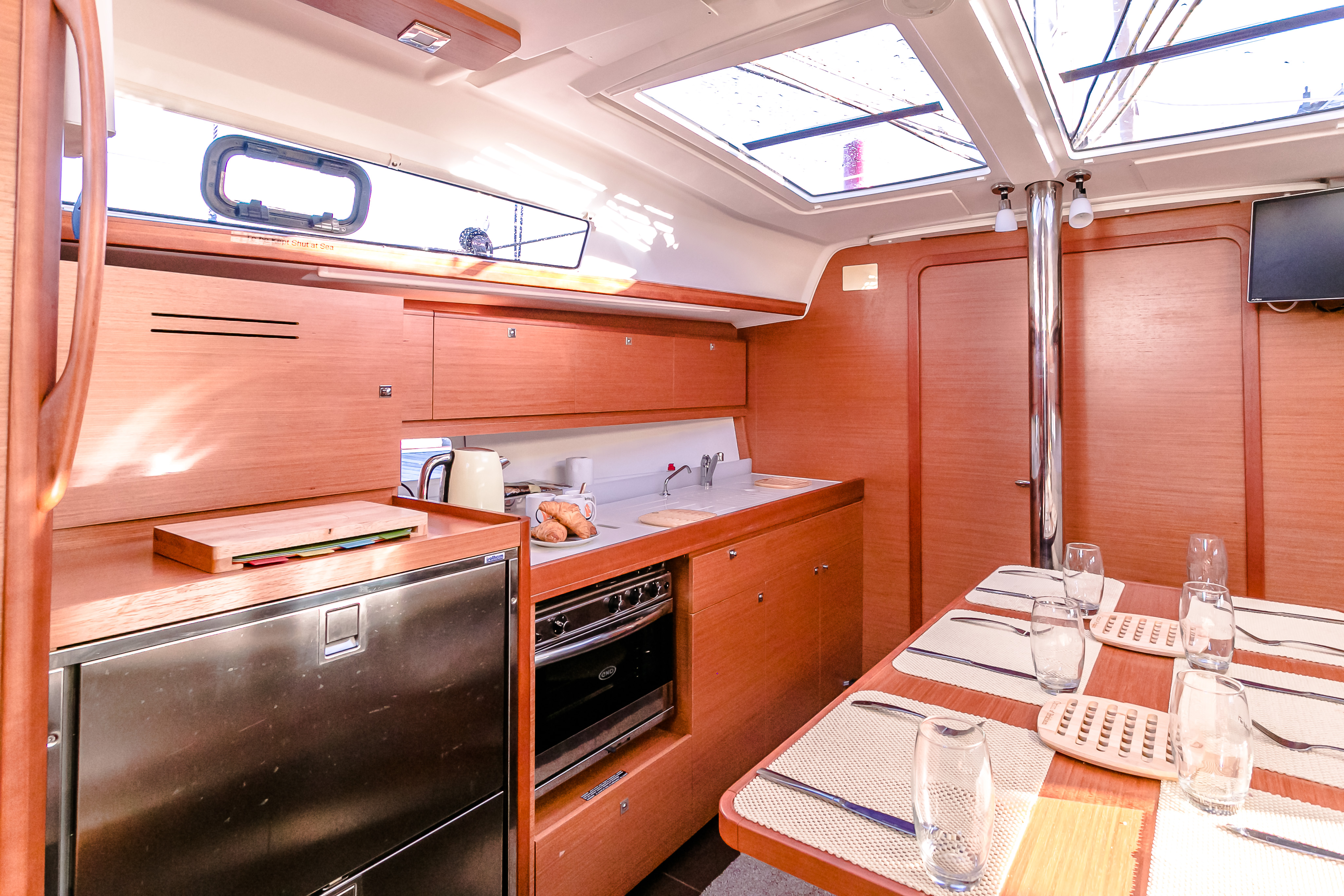 Sailing yacht Orion's galley